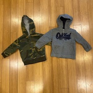 Lot of 2 baby boys hoodies